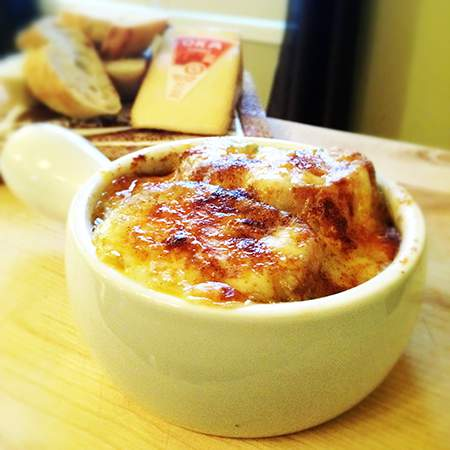 French Canadian Onion Soup with Oka Cheese