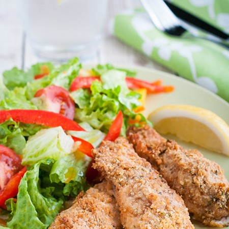 Mayo Parmesan Baked Chicken Fingers