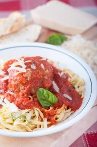 Big Italian Meatballs with Nonna-Approved Tomato Sauce
