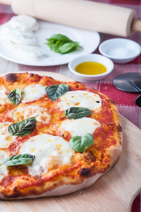 Stone Baked Margherita Pizza on the BBQ