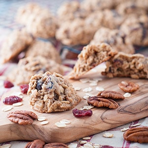 Pecan and Cranberry Oatmeal Cookies