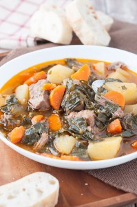 Portuguese Collard Greens and Beef Soup
