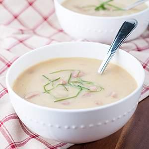 Potato, Leek and Chouriço Soup