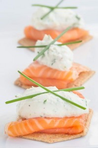 Smoked Salmon & Goat Cheese Appetizer