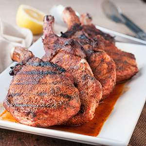 Quick Southern Style BBQ Rib Pork Chops
