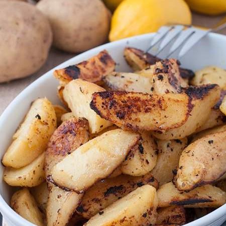 Greek Style Roasted Lemon Potatoes