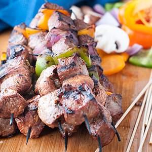 Striploin Steak Shish Kabobs