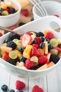 Grown–up Fruit Salad with Icewine