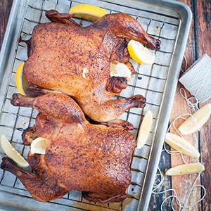 Smoked Chicken, the Alternative to Thanksgiving Turkey