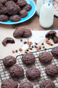 Chocolate Chocolate Chip Pecan Cookies