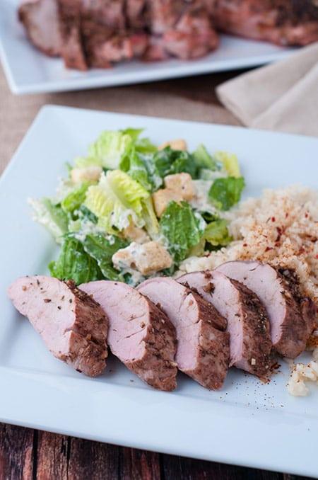 Balsamic Oven Roast Pork Loin