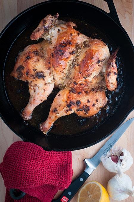 Weeknight Butterflied Chicken on Cast Iron