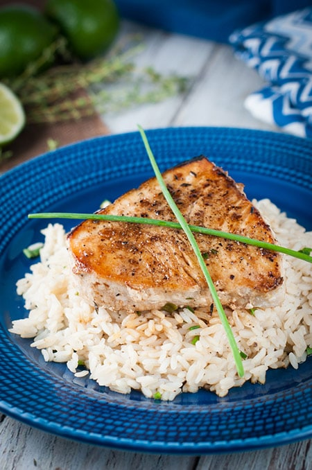 Pan-Seared Swordfish with Lime and Herb Butter