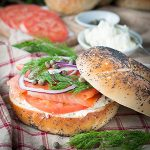 Bagel, Smoked Salmon and Cream Cheese Sandwich