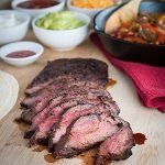 BBQ Steak for Fajitas