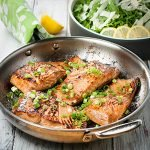 Marinated Pan Seared Salmon Fillets