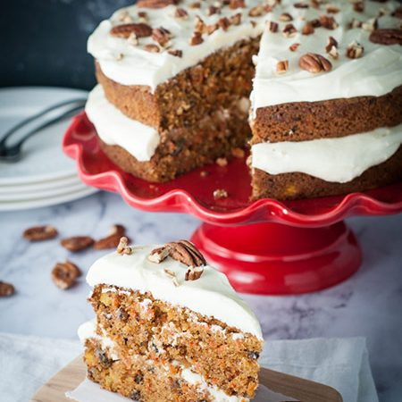 Moist and Delicious Naked Carrot Cake