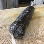 Rolled chocolate salami