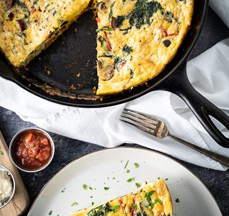 Chorizo and Spinach Frittata Recipe
