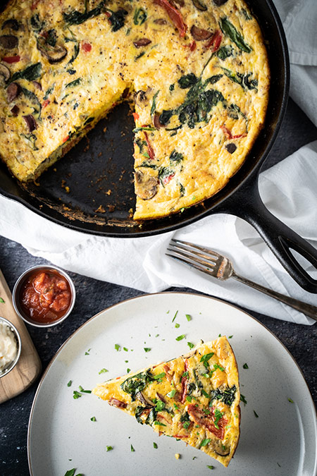 Chorizo and Spinach Frittata