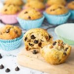 Banana and dark chocolate chip muffin
