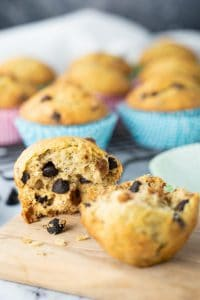 Banana dark chocolate chip muffin