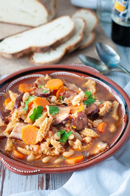 Dobrada - Portuguese Tripe and Bean Stew