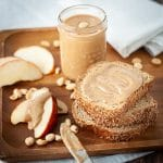 Homemade peanut butter with cinnamon
