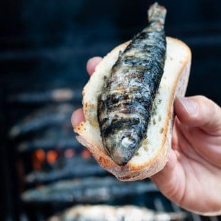 Grilled Portuguese sardines