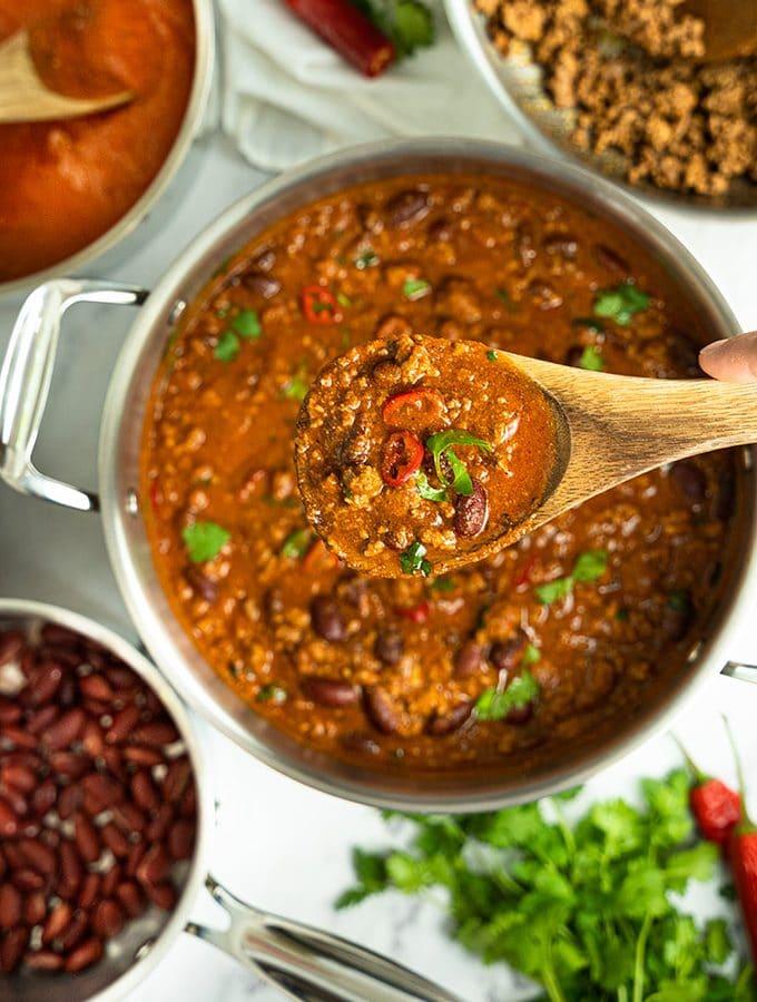 Chili in a pot