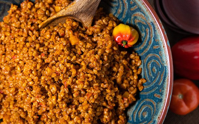 Jollof farro — a diabetic friendly alternative to rice