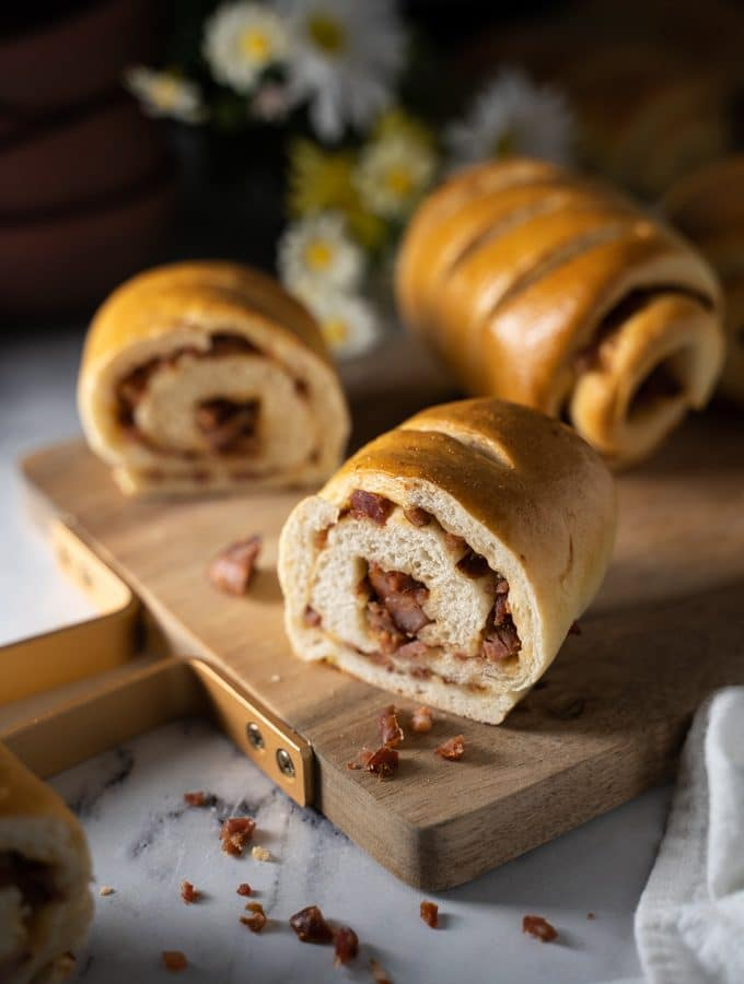 Portuguese chouriço buns