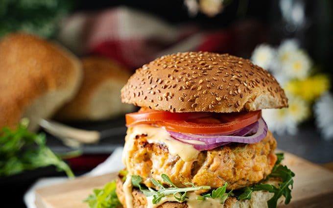 Big salmon burger recipe